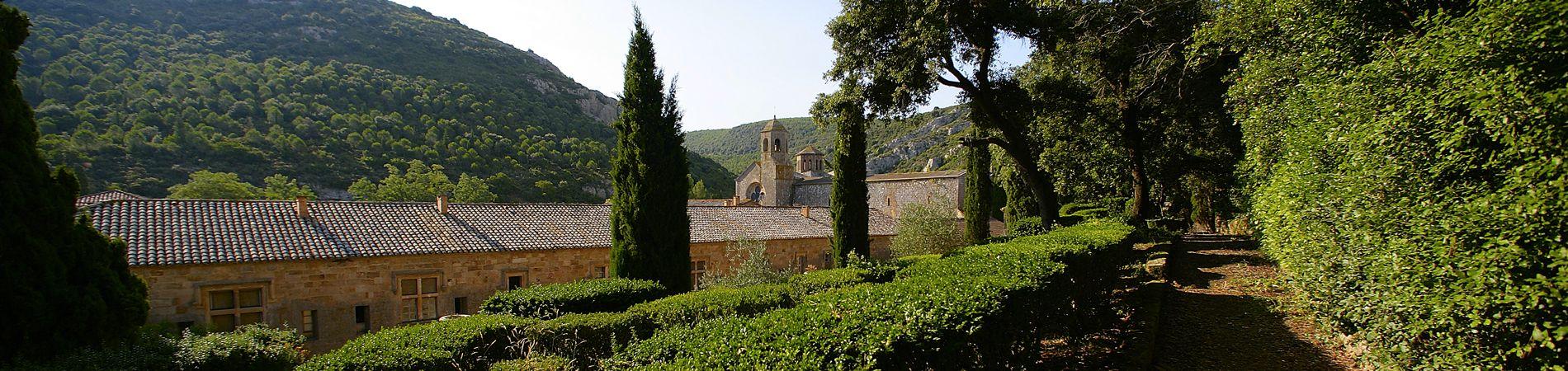 Los jardines de la abadía de Fontfroide
