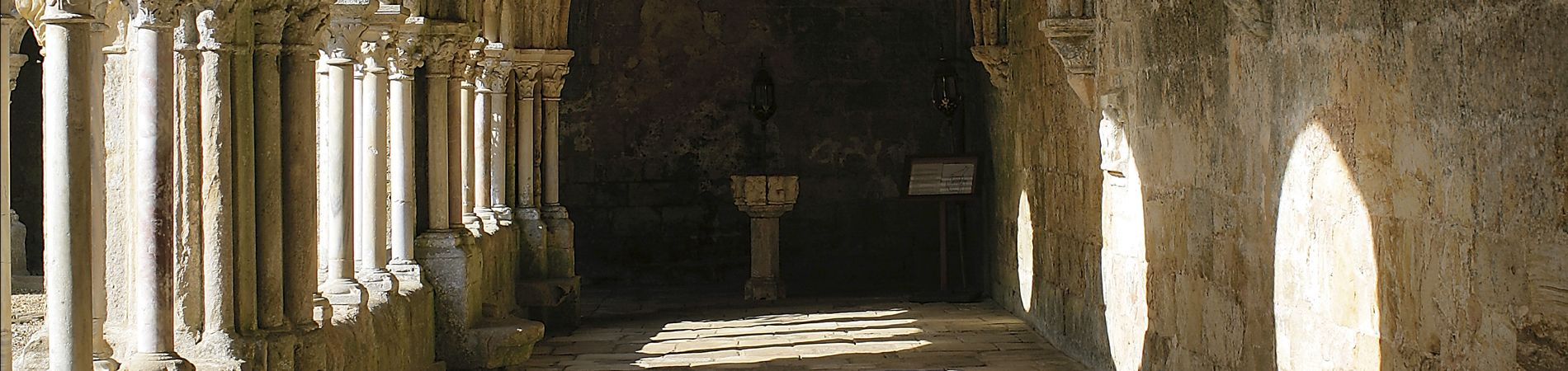El interior de la abadía de Fontfroide