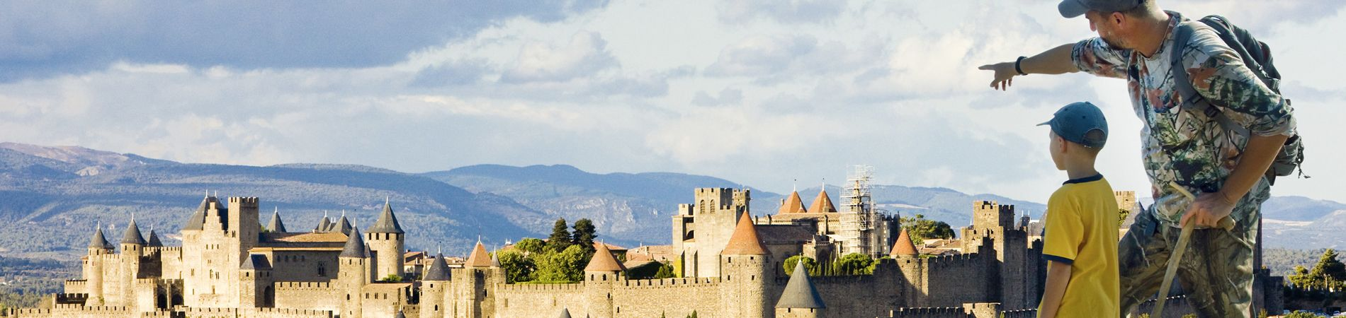 La vista de la ciudad de Carcassonne.
