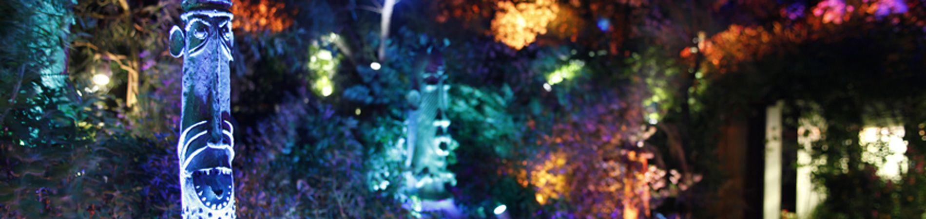 Las iluminaciones mágicas del artista JN Shoemaker en el restaurante Les Grands Buffets