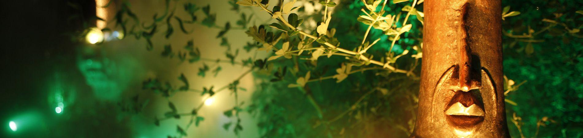 La magia de las luces de JN Shoemaker en los jardines de Les Grands Buffets