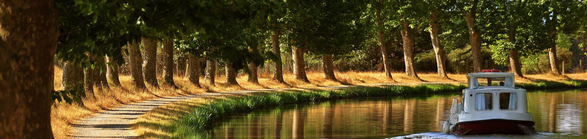 El canal du midi en Narbonne