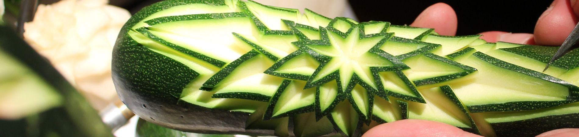 Sculptures sur légumes aux grands buffets narbonne