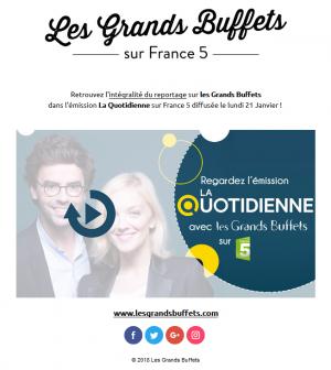 Les Grands Buffets dans la Quotidienne France 5
