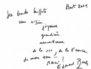 Dedicace Edouard Baer aux Grands Buffets