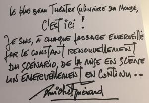 Dédicace de Michel Guérard aux Grands Buffets